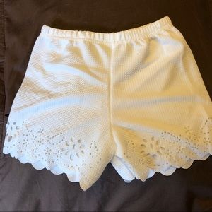 Other - Off white shorts cut out girls size 5T